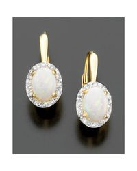 Eci | Metallic 14k Gold Opal 18 Ct Tw and Diamond Accent Earrings | Lyst