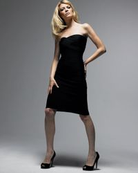 Hervé Léger | Black Strapless Dress | Lyst