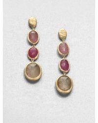 Marco Bicego | Metallic Siviglia Multicolor Sapphire & 18k Yellow Gold Drop Earrings | Lyst