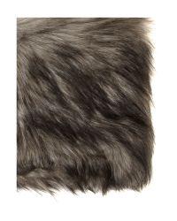 MICHAEL Michael Kors Gray Faux Fur Snood