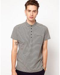Ben Sherman Black Stripe Polo Shirt for men
