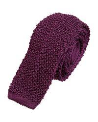 Ralph Lauren Purple Bouclé Knit Tie for men