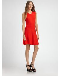 Theory | Red Taolina Wool Dress | Lyst