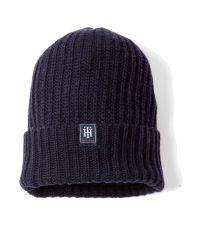 Tommy Hilfiger Blue Basic Ribbed Hat
