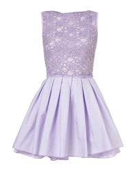 TOPSHOP Purple Audrey Dress