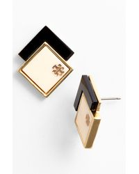Tory Burch | White Tomi Stud Earrings | Lyst