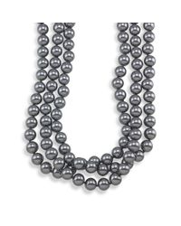 Carolee | Gray 72'' Charcoal Glass Pearl Rope Necklace | Lyst