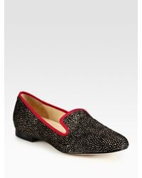Cole Haan - Black Polkadot Calf Hair and Grosgrain Ribbon Loafers - Lyst