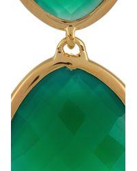 Monica Vinader - Green Nugget 18karat Goldvermeil Onyx Drop Earrings - Lyst
