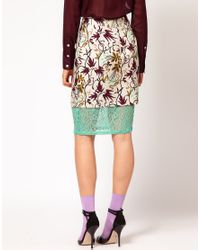 Nahm - Multicolor Layered Pencil Skirt in Light Floral Print - Lyst