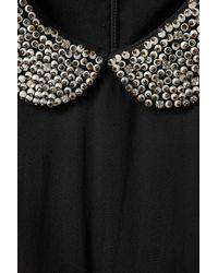 TOPSHOP Black Diamond Collar Playsuit