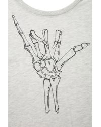 TOPSHOP Gray Hang Loose Skeleton Tee By Project Social T