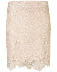 TOPSHOP White Danny Lace Skirt