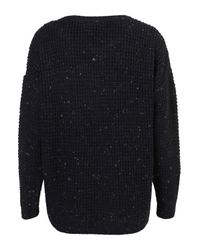 TOPSHOP Blue Knitted Speckle Slouch Jumper