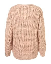 TOPSHOP Pink Knitted Speckle Slouch Jumper