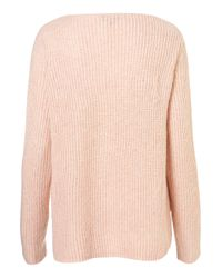 TOPSHOP Pink Knitted Clean Rib Jumper