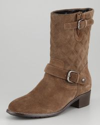 Aquatalia | Brown Ora Quilted Short Boot | Lyst
