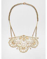 Bing Bang | Metallic Sacred Geometry Bib Necklace | Lyst