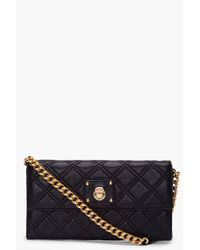 Marc Jacobs - Black Quilted Leather Ginger Crossbody - Lyst