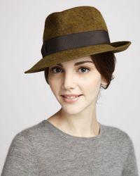 Eric Javits Brown Classic Rabbit Felt Hat