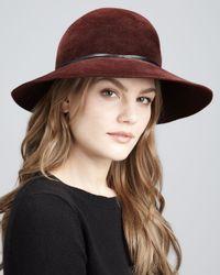 Eric Javits Brown Moxi Lightweight Velour Hat
