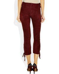 Isabel Marant | Purple Eden Stretchsuede Skinny Pants | Lyst