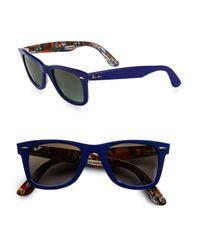 Ray-Ban | Blue Classic Wayfarer Guitar Print Sunglasses | Lyst