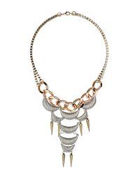 TOPSHOP - Metallic Crescent Collar - Lyst