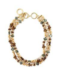Jones New York | Metallic Worn Gold Tone Drama Collar Necklace | Lyst