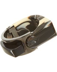 Lanvin - Gray Abstract Deco Large Bracelet - Lyst