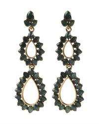 Oscar de la Renta | Green Resin Teardrop Earrings | Lyst