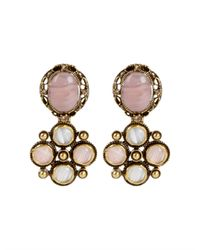 Oscar de la Renta | Pink Medieval Drop Earrings | Lyst