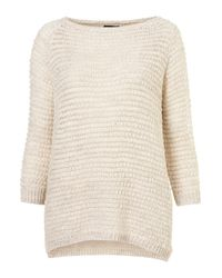 TOPSHOP | Natural Knitted Grill Stitch Jumper | Lyst