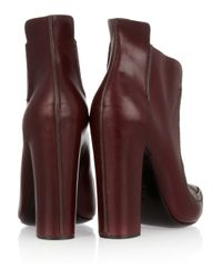 Alexander Wang | Purple Leather Ankle Boots | Lyst