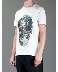 Alexander McQueen | White Ivy Skull Tshirt for Men | Lyst