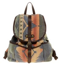 ASOS Multicolor Asos Hand Woven Leather Trim Backpack for men