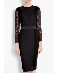 By Malene Birger | Black Noea Interlock Lace Dress | Lyst