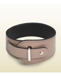 Gucci | Natural Distressed Leather Bracelet for Men | Lyst