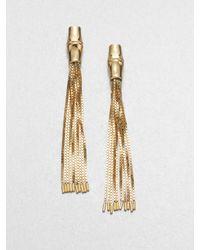 Gucci | Metallic Bamboo 18k Yellow Gold Tassel Earrings | Lyst