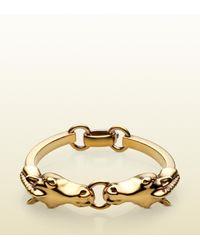 Gucci - Metallic Horse Heads Bracelet - Lyst