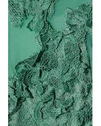 Philosophy di Alberta Ferretti - Blue Lace and Silkchiffon Gown - Lyst