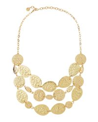 R.j. Graziano - Metallic Circle Link Golden Necklace - Lyst