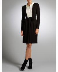 Somerset by Alice Temperley Somerset By Alice Temperley Chiffon Insert Dress Black