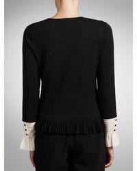 Somerset by Alice Temperley Somerset By Alice Temperley Frill Cuff Knitted Cardigan Black
