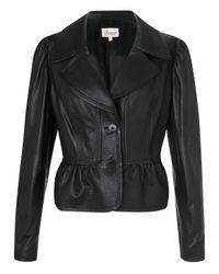 Somerset by Alice Temperley Somerset By Alice Temperley Peplum Leather Coat Black