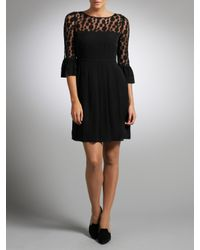 Somerset by Alice Temperley Somerset By Alice Temperley Spot Mesh Shift Dress Black