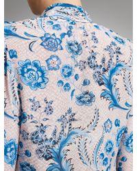 Somerset by Alice Temperley Multicolor Somerset By Alice Temperley Tie Neck Blouse Floral Blue