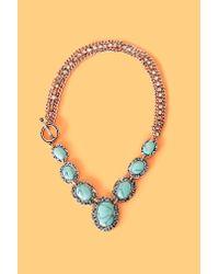 Nasty Gal - Metallic Tucson Turquoise Necklace - Lyst