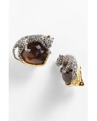 Alexis Bittar | Brown Elements Siyabona Panther Clip Earrings | Lyst