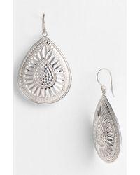 Anna Beck | Metallic Leaf Large Teardrop Earrings | Lyst